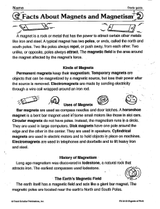 Facts About Magnets and Magnetism