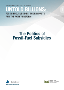 The Politics of Fossil-Fuel Subsidies
