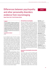 Differences between psychopathy and other personality disorders