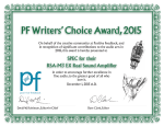 PF Writers` Choice Award, 2015