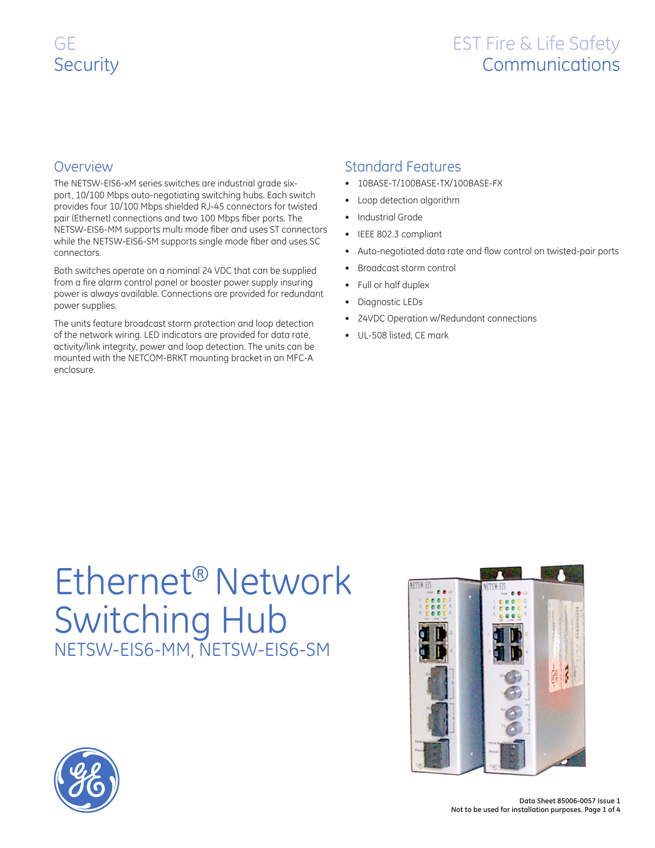 data sheet 85006 0057 ethernet network switching hubInl Communications Has Been Installing Networks And Switches In The #9