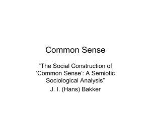 Common Sense - SemioticSigns.com