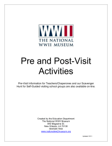Pre and Post-Visit Activities