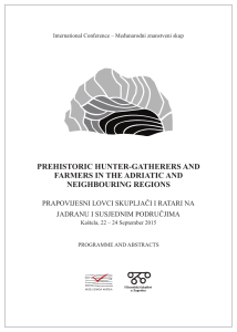 prehistoric hunter-gatherers and farmers in the adriatic and