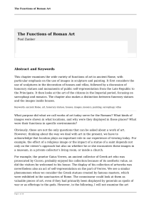 The Functions of Roman Art