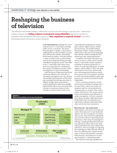 Reshaping the business of television