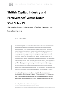 `British Capital, Industry and Perseverance` versus Dutch