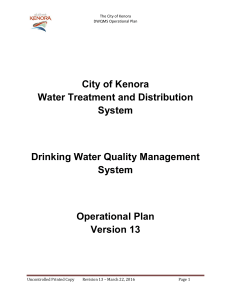Drinking Water Quality Management System
