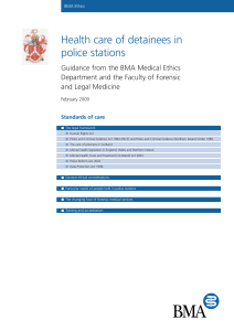 Health care of detainees in police stations