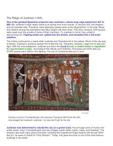 The Reign of Justinian I (HA)