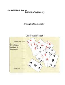 James Hutton`s Idea on Principle of Uniformity Principle of