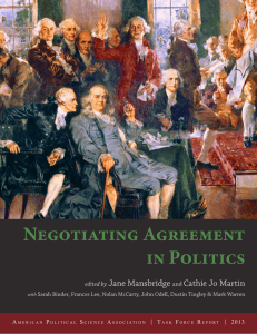Negotiating Agreement in Politics