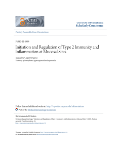Initiation and Regulation of Type 2 Immunity and Inflammation at