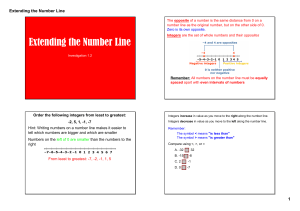 Extending the Number Line