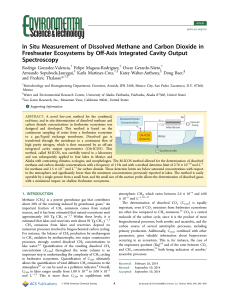 In Situ Measurement of Dissolved Methane and Carbon Dioxide in