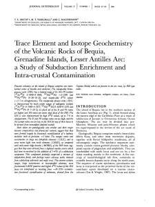 Trace Element and Isotope Geochemistry of the Volcanic Rocks of