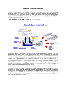 For detailed information on Aluminium Production