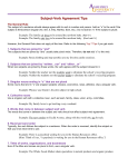 Subject-Verb Agreement Tips
