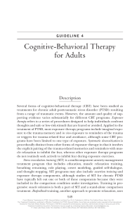 Cognitive- Behavioral Therapy for Adults