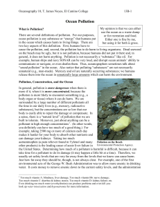 13B R-Ocean Pollution Reading