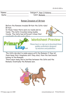 Roman invasion of Britain - Primary Leap Worksheets.