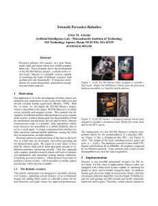 Towards Pervasive Robotics