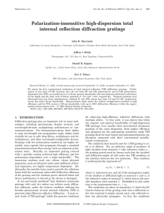 Polarization-insensitive high-dispersion total internal reflection