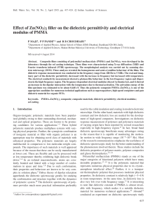 Effect of Zn(NO3)2 filler on the dielectric permittivity and electrical