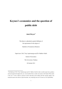 Keynes`s economics and the question of public debt