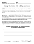 George Washington DBQ – adding documents