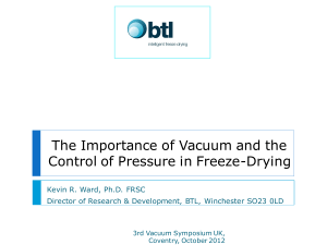The importance of vacuum and the control of