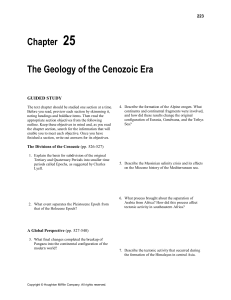 Chapter 25 The Geology of the Cenozoic Era