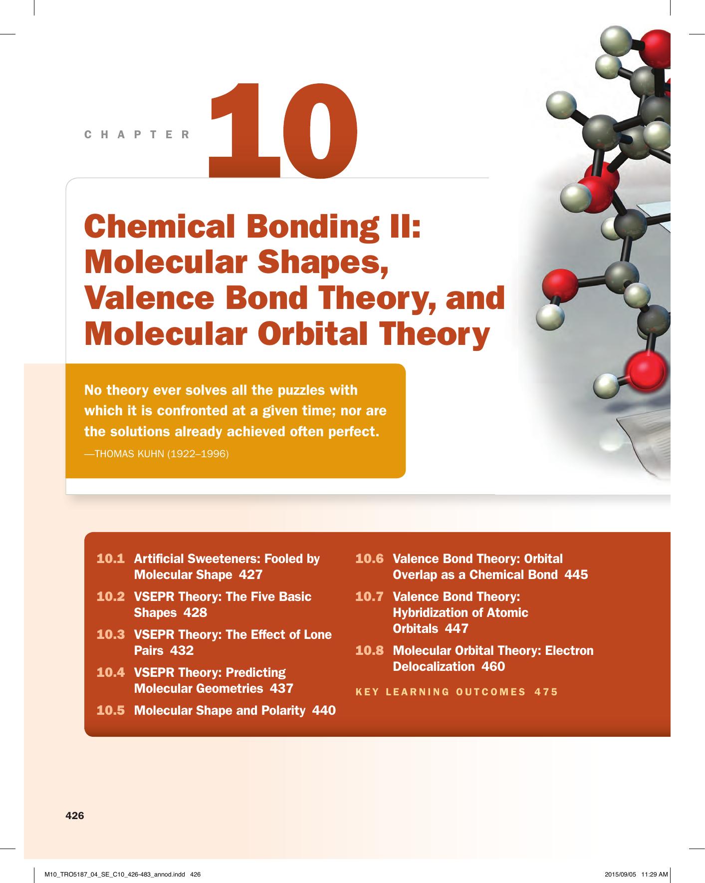 Chemical Bonding Ii Molecular Shapes