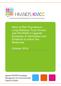 Most at Risk Populations – Long Distance Truck Drivers and HIV