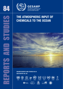 the atmospheric input of chemicals to the ocean