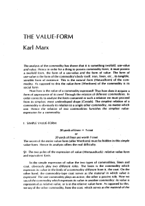 the value form