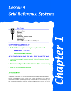 Lesson 4 Grid Reference Systems