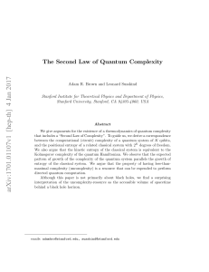 The Second Law of Quantum Complexity