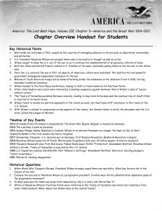 Chapter Overview Handout for Students