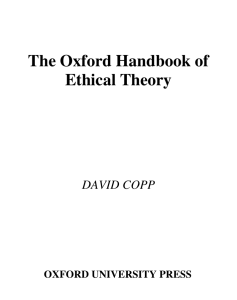 The Oxford Handbook of Ethical Theory