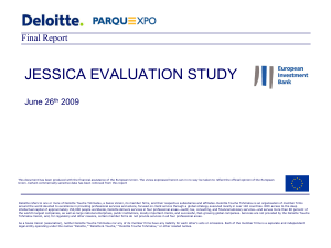 Portugal: JESSICA evaluation study