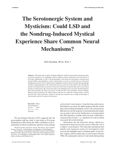 The Serotonergic System and Mysticism: Could LSD and the
