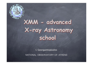 XMM - advanced X-ray Astronomy school - X