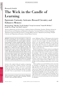 The Wick in the Candle of Learning