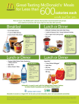 600 Calories Meal Bundle Fact Sheet