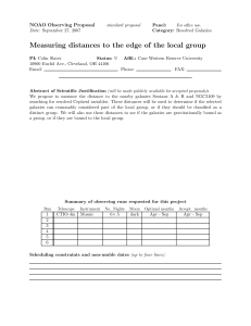 Measuring distances to the edge of the local group