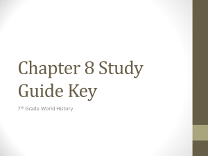 Chapter 8 Study Guide Key