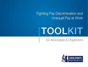 Fighting Pay Discrimination and Unequal Pay at Work