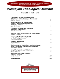 Wesleyan Theological Journal
