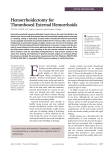 Hemorrhoidectomy for Thrombosed External Hemorrhoids